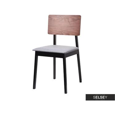 VIBO Chaise en bois noyer / noir
