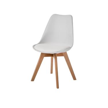 LUIS BOIS Chaise en simili cuir et pieds en hêtre