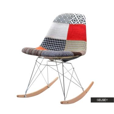 ADIRALE Chaise à bascule design patchwork