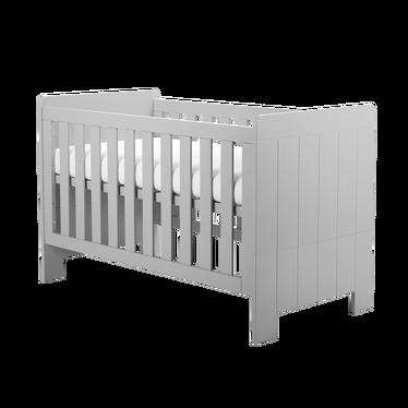 CALMO Lit bébé évolutif 70x140 cm gris