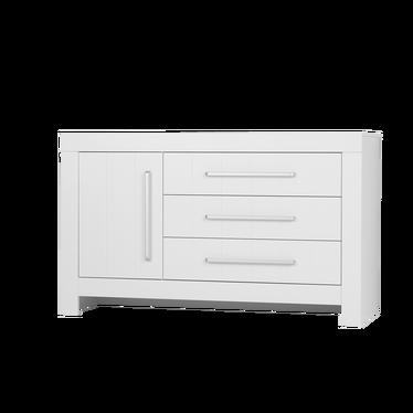 CALMO Commode 1 porte 3 tiroirs blanc