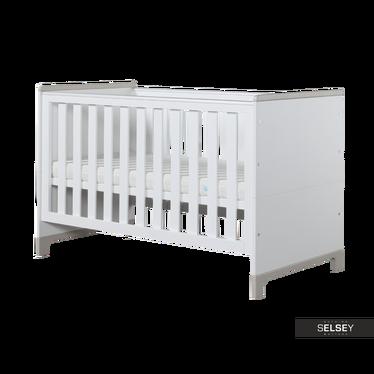 MINI Lit bébé évolutif 70x140 cm blanc et gris