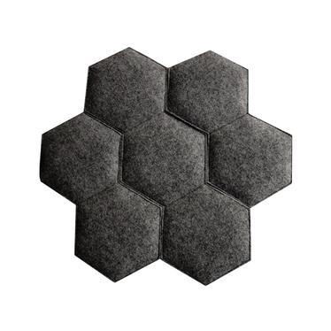 RAYON DE MIEL coussin de chaise noir 39 x 38 cm