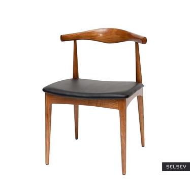 CODO Chaise en bois marron clair