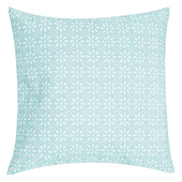 DAISY FLOWER coussin bleu 47 x 47 cm