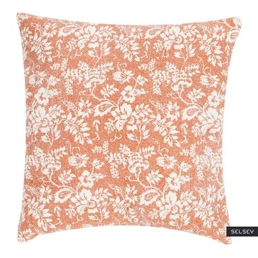 JARDIN DE FLEURS coussin orange 45 x 45 cm