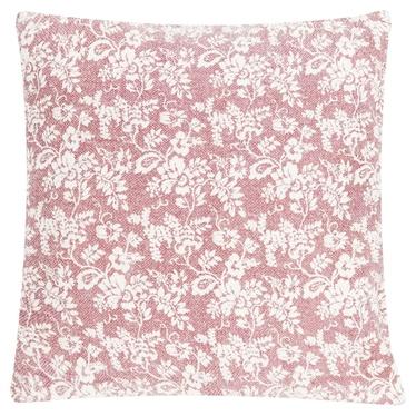 JARDIN DE FLEURS coussin rosé 60 x 60 cm