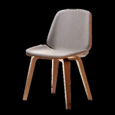 VINCE Chaise tapissée noyer / beige