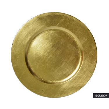 Assiette de présentation dorée 33 cm