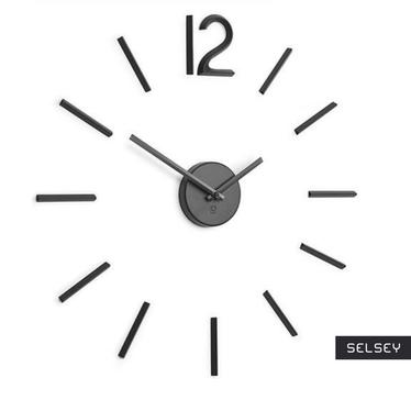 BLINK Horloge murale noire
