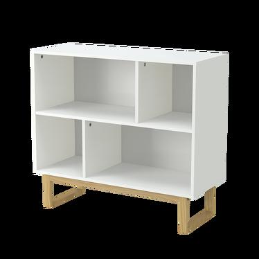 SCANDI Cubes de rangement pieds en bois