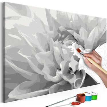 FLEUR EN NOIR ET BLANC Tableau à peindre soi-même