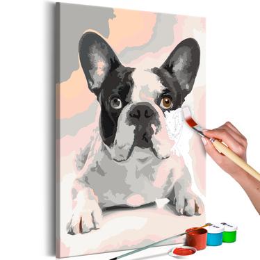 BOULEDOGUE Tableau à peindre soi-même