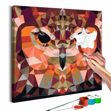 HIBOU GÉOMÉTRIQUE Tableau à peindre soi-même