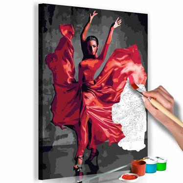 ROBE ROUGE Tableau à peindre soi-même
