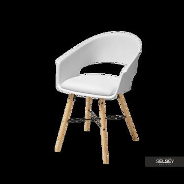 MOSKAL Chaise rembourée blanche