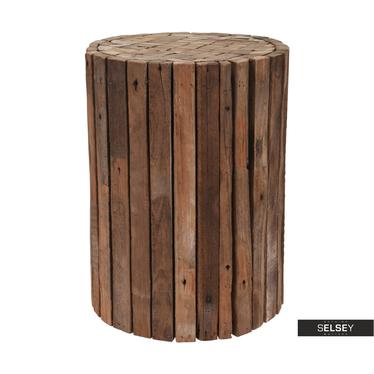 WOOD Tabouret en bois de teck