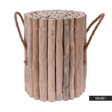 DELA Tabouret en bois de teck