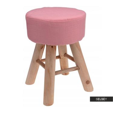 KANE Tabouret en bois rose