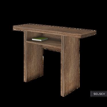 LURDI Table console extensible 35(70)x120 cm effet chêne canyon foncé