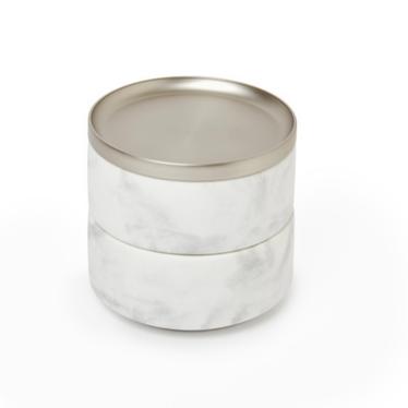 TESORA Boîte à bijoux nickel