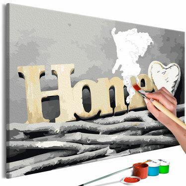 HOME SUR BRANCHES Tableau à peindre soi-même