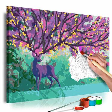 CERF VIOLET Tableau à peindre soi-même