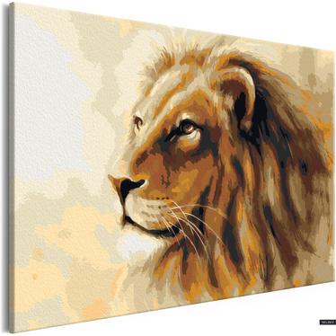 LE ROI LION Tableau à peindre soi-même