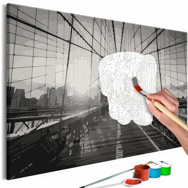 PONT DE NEW YORK Tableau à peindre soi-même