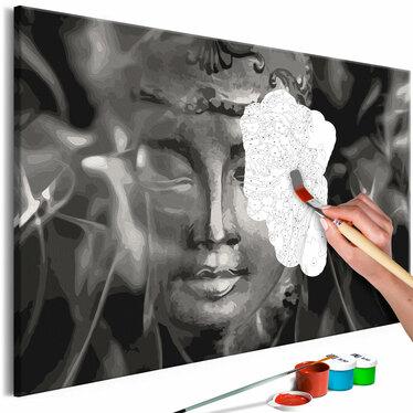 BOUDDHA NOIR ET BLANC Tableau à peindre soi-même