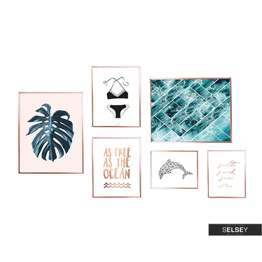 PEACEFUL OCEAN Lot de 6 affiches