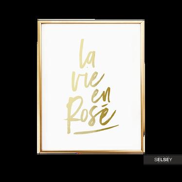 LA VIE EN ROSE Poster mural