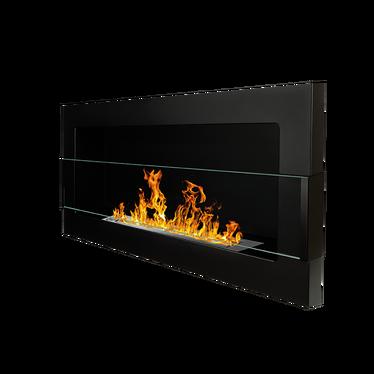 ASTRALIS Cheminée bioéthanol 90x40 cm noire