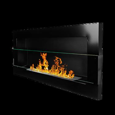 ASTRALIS Cheminée bioéthanol 90x40 cm noire brillante