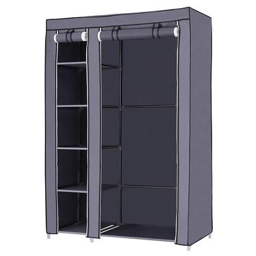 TEXTILE Armoire penderie mobile graphite 110 cm