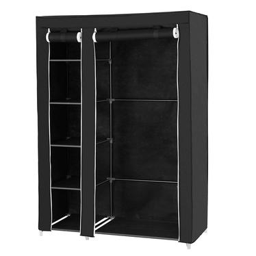 TEXTILE Armoire penderie mobile noire 110 cm