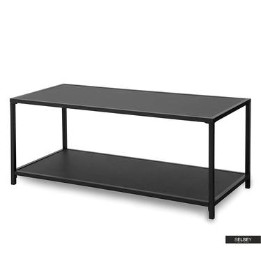 MALEK Table basse noire 110x50 cm