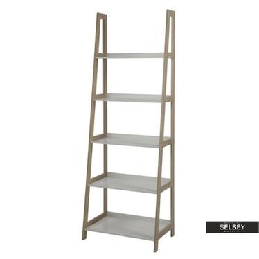 WALLY Étagère échelle 180 cm blanc / bambou