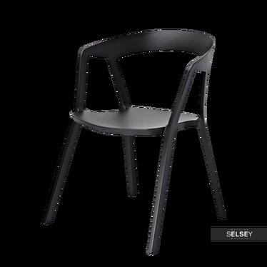 LOVRET Chaise industrielle noire