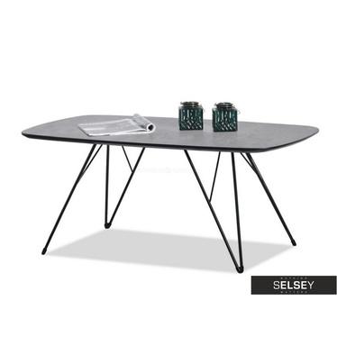 RUBIS Table basse noire et en béton 110x60 cm