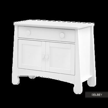 PAROLE Commode 2 portes 1 tiroir blanche