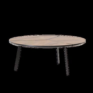 FJORD Table basse effet noyer  Ø 86 cm