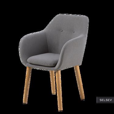 EMILIA PINS Chaise grise sur pieds en bois
