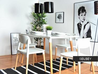 SMART Table à manger scandinave 120x80 cm