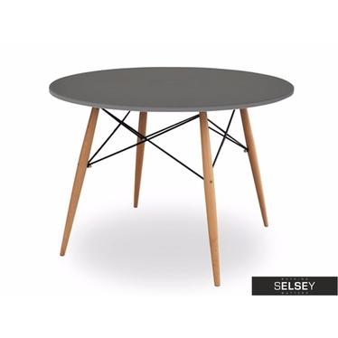 FUSION Table à manger grise diamètre 100 cm