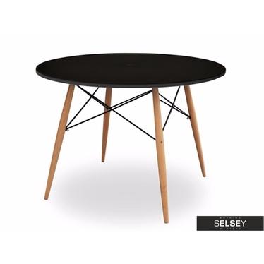 FUSION Table à manger noire diamètre 100 cm