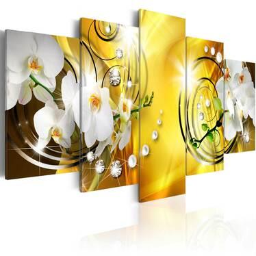 ENCHANTEMENT JAUNE Peinture 200x100 cm