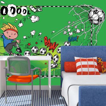 Papiers peint enfant - goal 300x210 cm