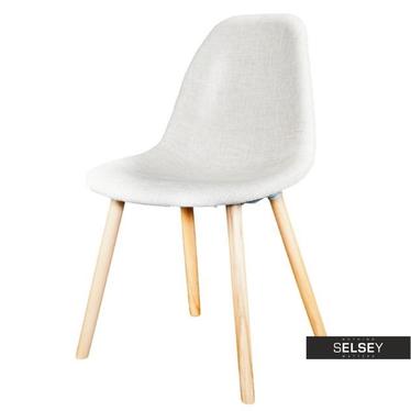 COSY Chaise salon tapissée beige