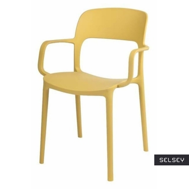 FLEXI Chaise avec accoudoirs olive